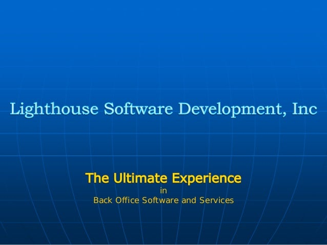 in Back Office Software and Services
