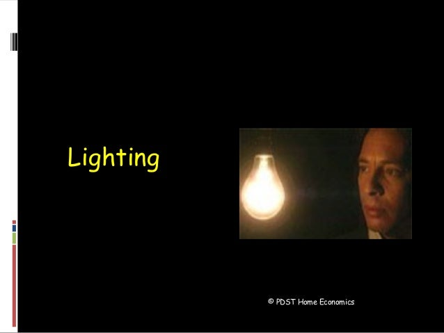 © PDST Home Economics Lighting