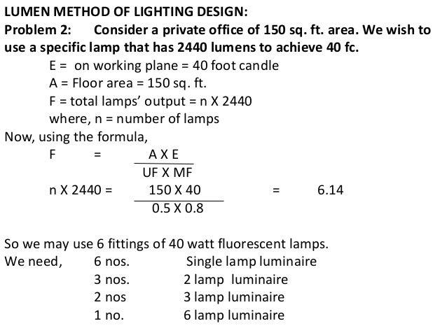 lumen method of lighting design pdf