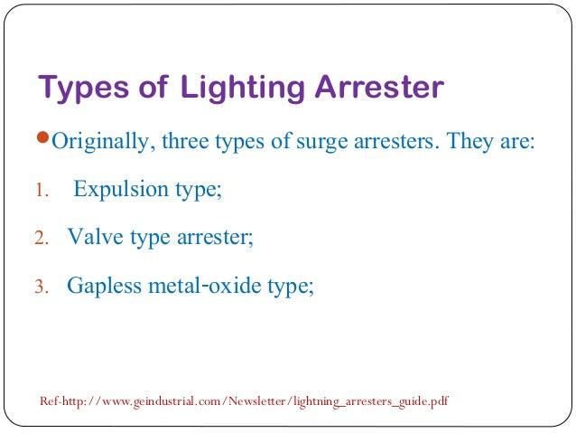 4. Types of Lighting Arrester ...  sc 1 st  SlideShare & Lightning Arrester Presentation** azcodes.com