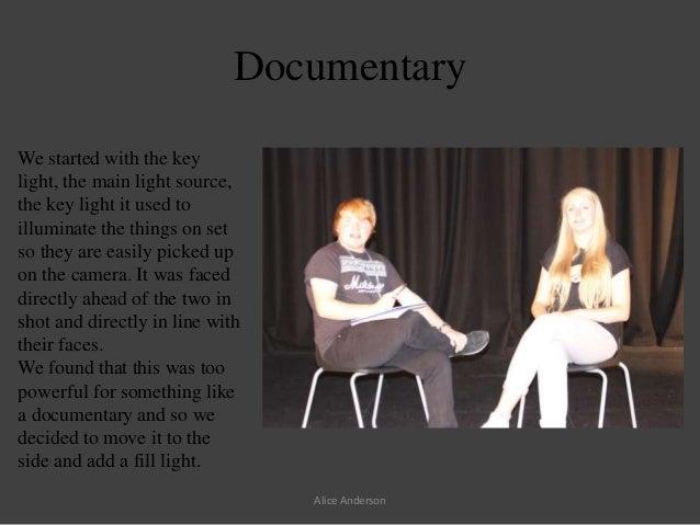 Alice Anderson; 3. & Three Point Lighting Media Lesson azcodes.com