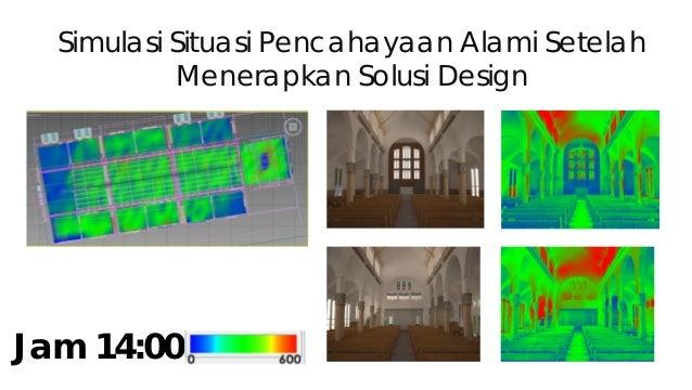 Simulasi Situasi Pencahayaan Alami Setelah Menerapkan Solusi Design Jam 16:00