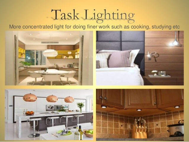 Different lighting types in interior design for Types of interior design