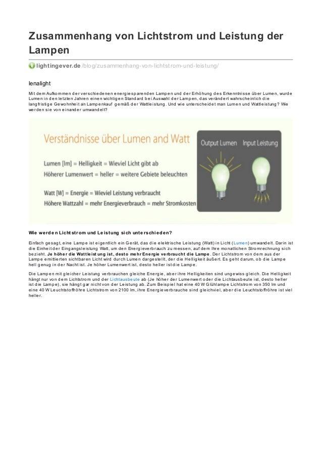 Zusammenhang von Lichtstrom und Leistung der Lampen lightingever.de /blog/zusammenhang-von-lichtstrom-und-leistung/ lenali...