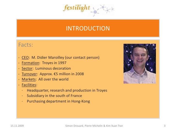 Free marketing plan sample of a lighting services, Festilight, by www.marketingPlanNOW.com Slide 3