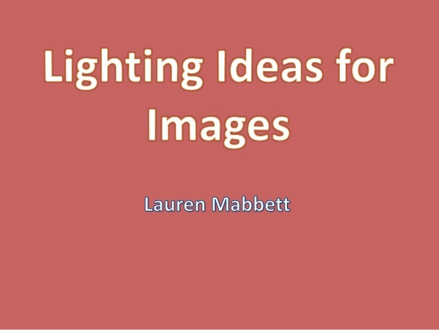 What I did to investigate lighting techniques.- Take a photoshoot using dramatic lighting.- Use a black background and a w...