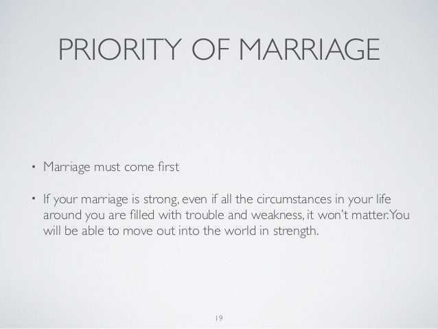 Marriage priority