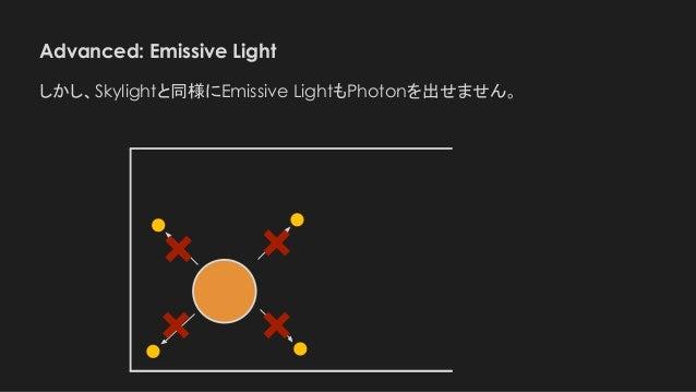 Advanced: Emissive Light しかし、Skylightと同様にEmissive LightもPhotonを出せません。