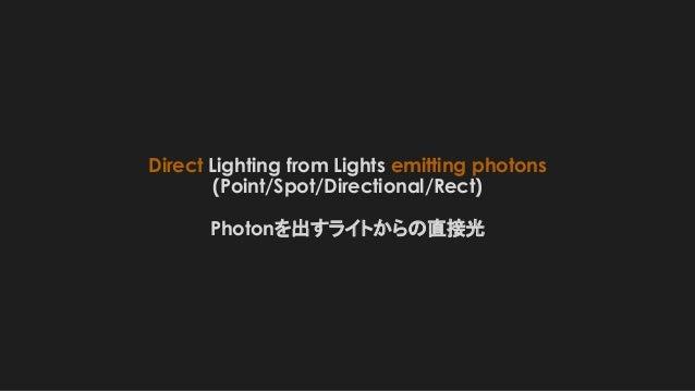 Direct Lighting from Lights emitting photons (Point/Spot/Directional/Rect) Photonを出すライトからの直接光