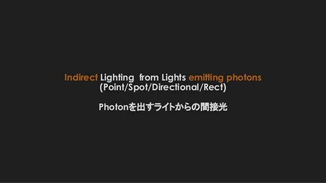 Indirect Lighting from Lights emitting photons (Point/Spot/Directional/Rect) Photonを出すライトからの間接光