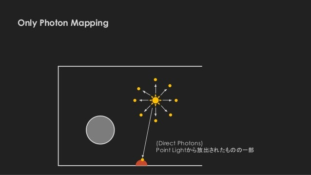 Only Photon Mapping (Direct Photons) Point Lightから放出されたものの一部