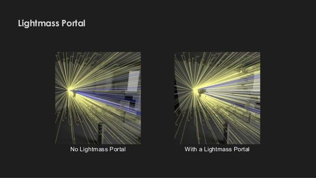 Lightmass Portal No Lightmass Portal With a Lightmass Portal