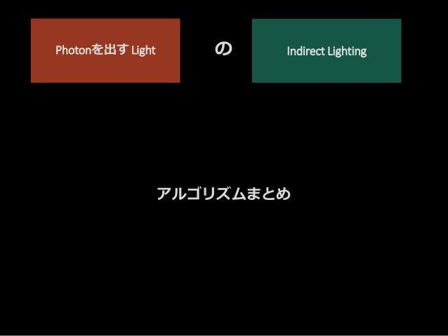 Point Spot Directional Light.. Sky Light Direct Lighting ライトに 直接レイを飛ばす Indirect Lighting Photon Mappingで シミュレーション Direct L...