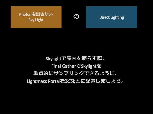 Sky LightはPhotonを放出しない SkyLight
