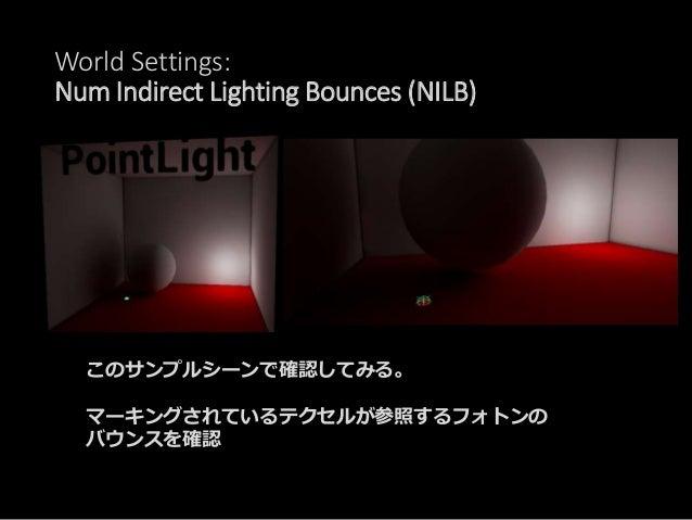 World Settings: Num Indirect Lighting Bounces (NILB) 2nd Bounce