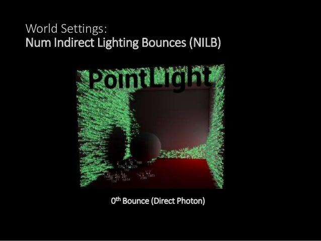 World Settings: Num Indirect Lighting Bounces (NILB) 3rd Bounce
