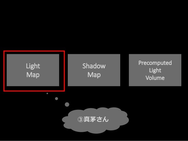 Light Map Shadow Map Precomputed Light Volume ③真茅さん