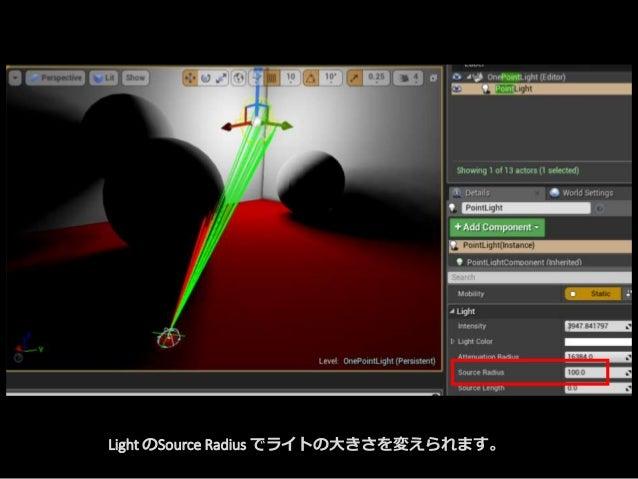 Light のSource Radius でライトの大きさを変えられます。