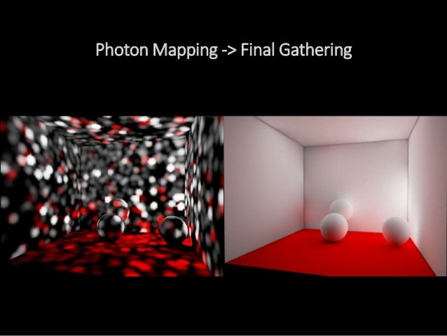 Photon Mapping -> Final Gathering すごいですね。Final Gathering