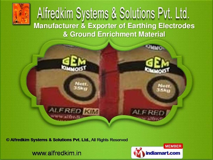 Manufacturer & Exporter of Earthing Electrodes       & Ground Enrichment Material