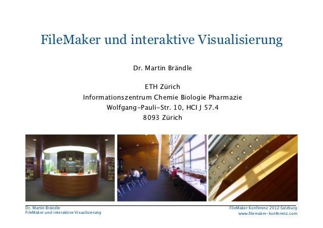 FileMaker Konferenz2010        FileMaker und interaktive Visualisierung                                             Dr. M...
