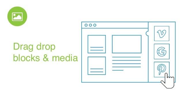 Drag drop  blocks & media