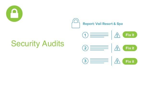 Security Audits Fix it Fix it Fix it