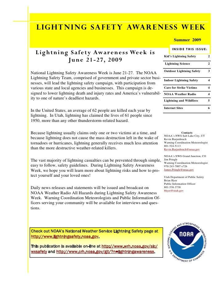 Lightning Safety Awareness Week                                                                                           ...