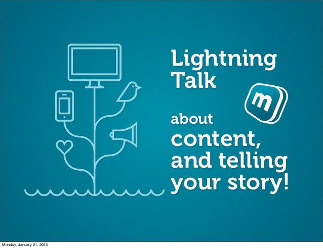 Lightning                           Talk                           about                           content,               ...