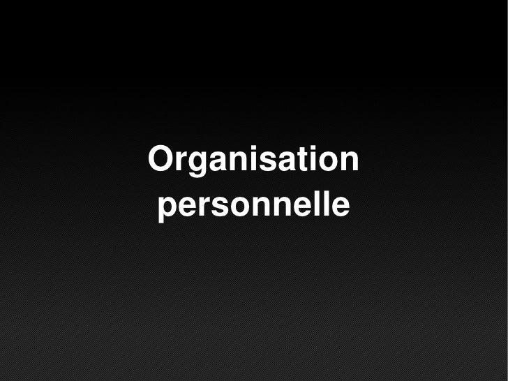 Organisationpersonnelle