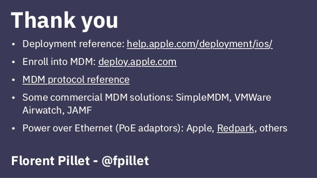 Kiosk Applications and Apple Mobile Device Management (MDM)