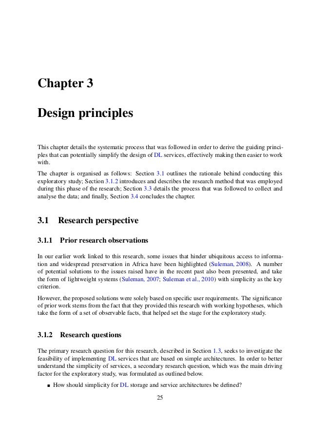 chapter Only two dissertation simplified