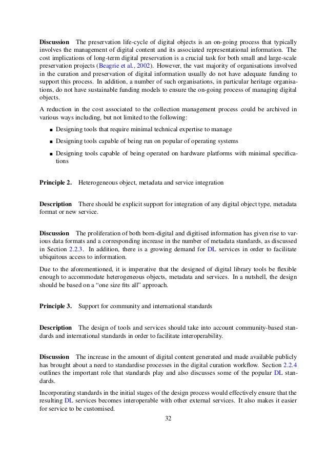 Msc dissertation discussion