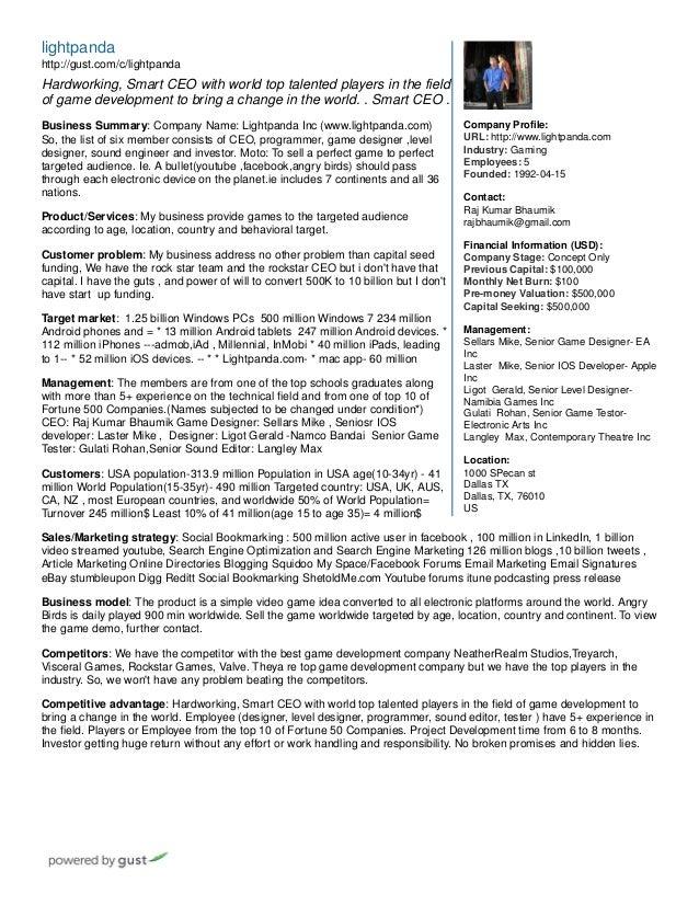 Lightpanda One Pager Company Profile URL Industry