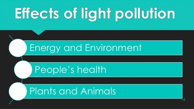Effects of Light pollution