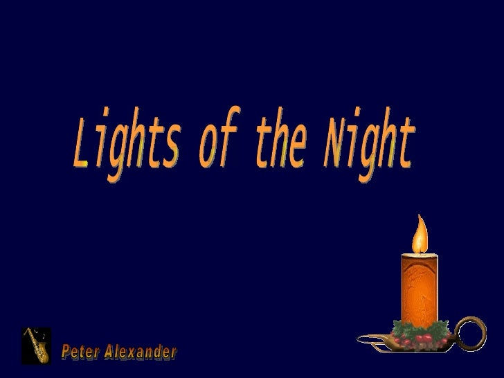 Peter Alexander Lights of the Night