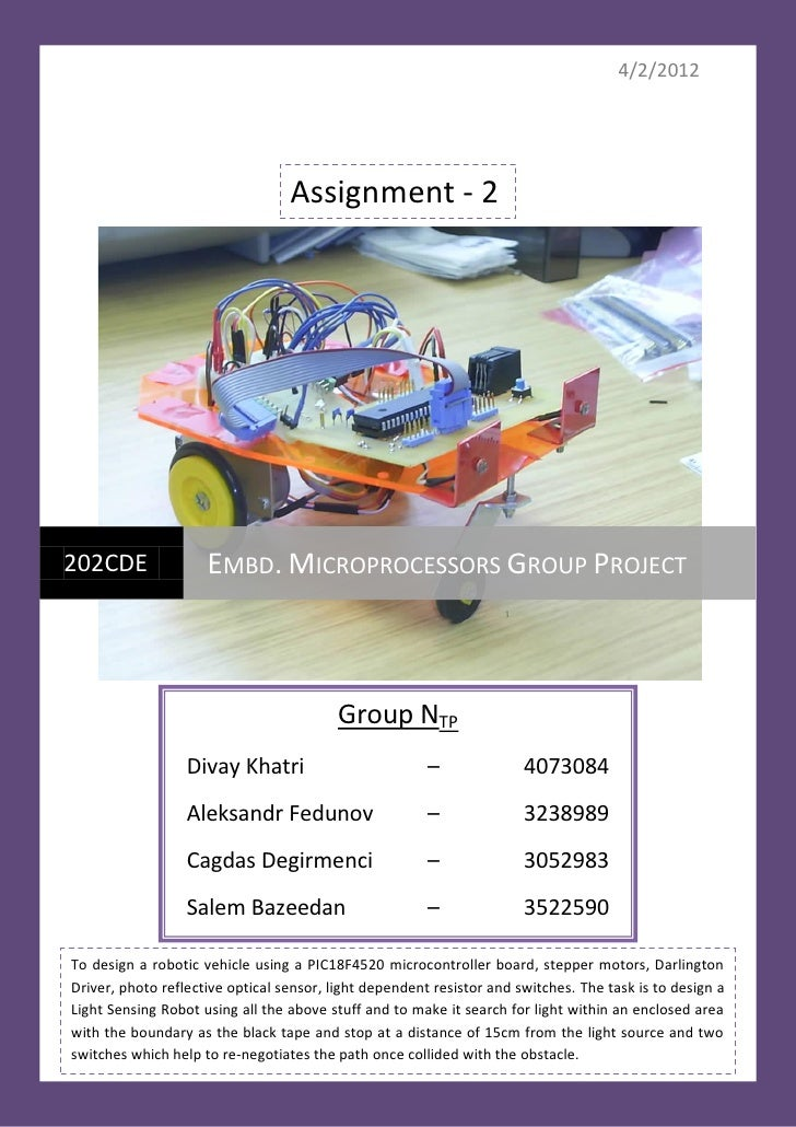 4/2/2012                                  Assignment - 2202CDE               EMBD. MICROPROCESSORS GROUP PROJECT          ...