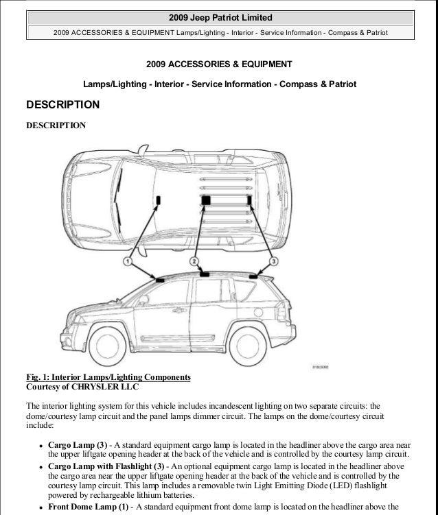 manual reparacion jeep compass patriot limited 2007 2009 lights int rh slideshare net 2014 Jeep Compass Manual Jeep Compass Repair Manuals