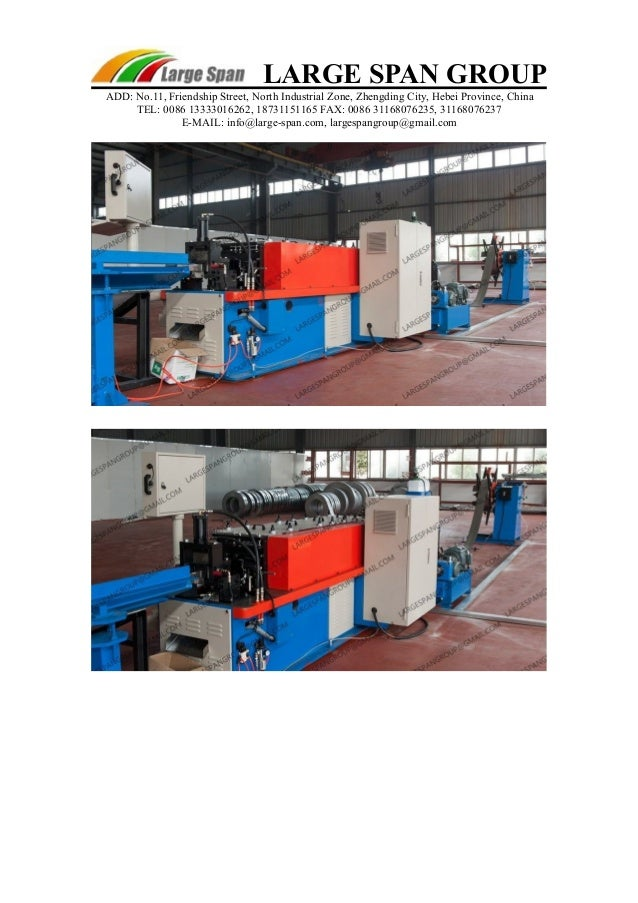 Light steel framing machine