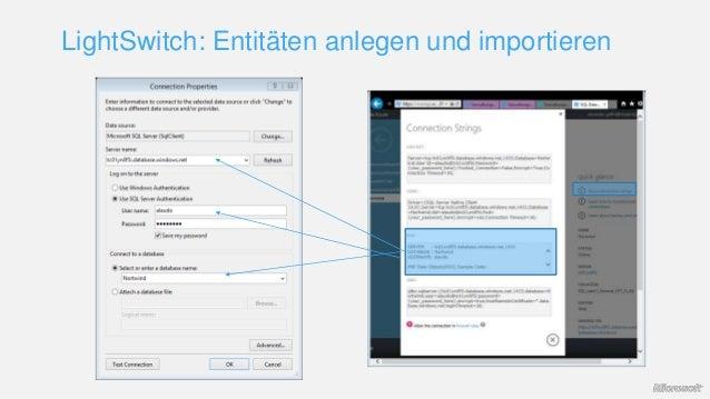 LightSwitch: Entitäten anlegen und importieren