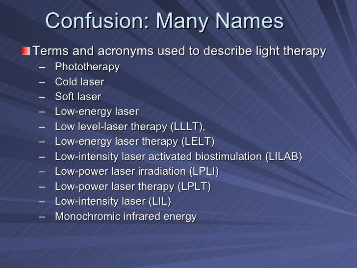 sc 1 st  SlideShare & Light Therapy