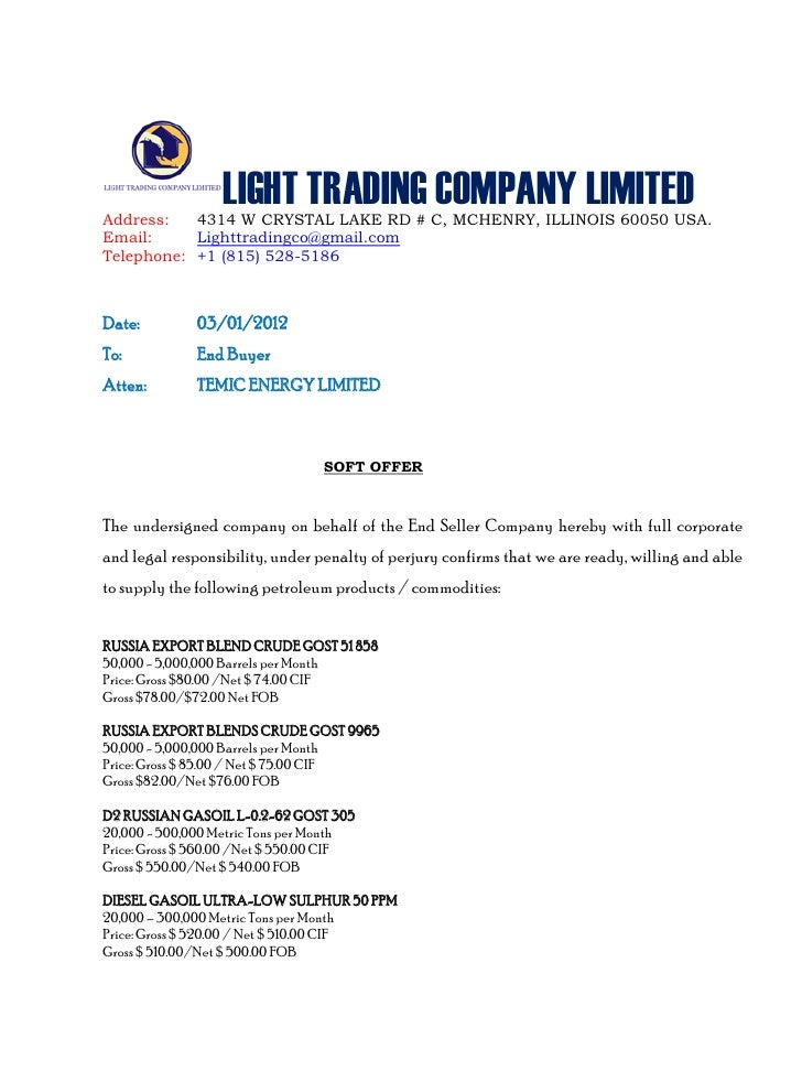 soft corporate offer template