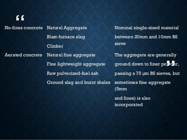 Blast Furnace Slag Aggregate Lightweight : Lightweight and heavyweight concrete