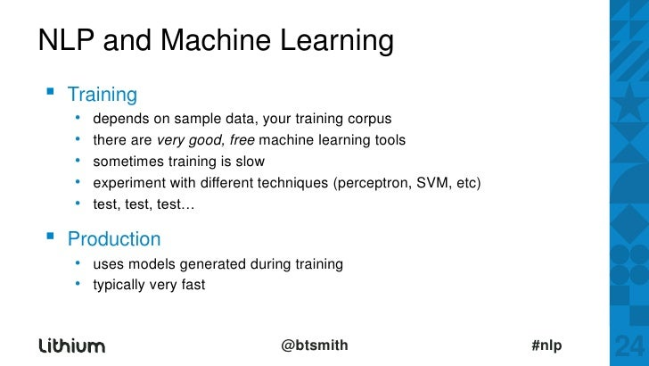 Nlp And Machine Learning Training