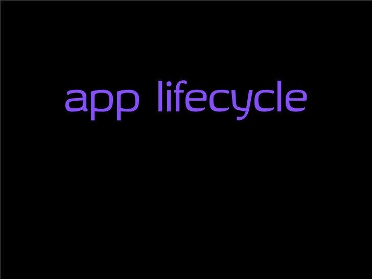 app lifecycle