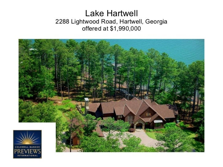 Lake Hartwell 2288 Lightwood Road, Hartwell, Georgia offered at $1,990,000