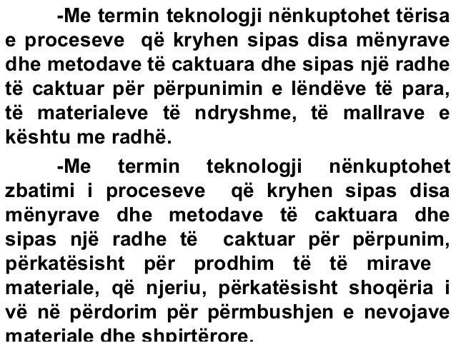 INXHINIERIA EKONOMIKE-Teknologjia I-Ligjërata 1