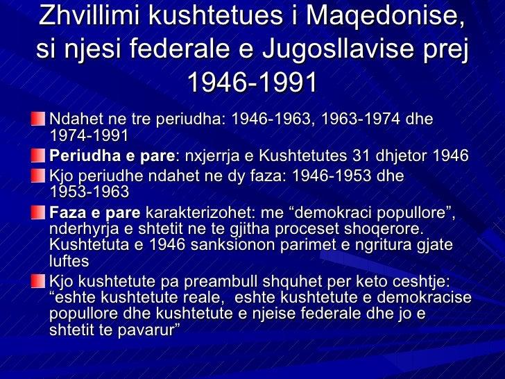 Kjo kushtetute ishte shprehje juridike e realitetite jo deklarate apo program i se ardhmesOrganizimi i pushtetit shteteror...