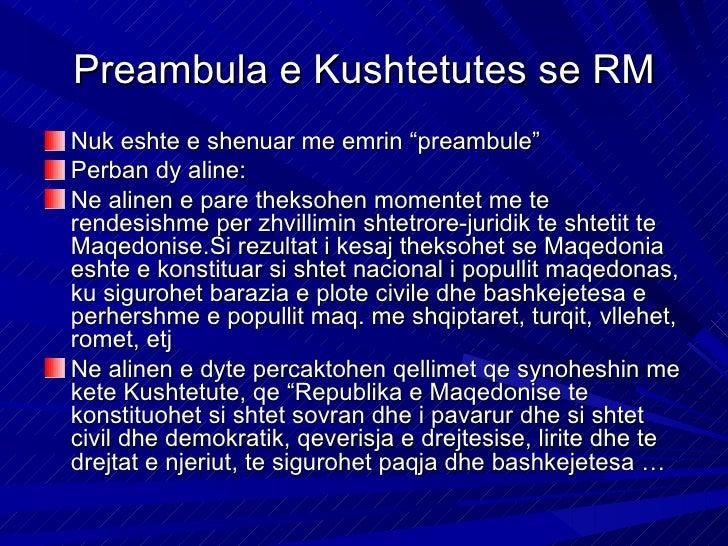 """Preambula kishte zbatuar konceptin e shtetit nacional,ndersa synonte te zhvillohej si """"shtet sovran i pavarurdhe si shtet ..."""