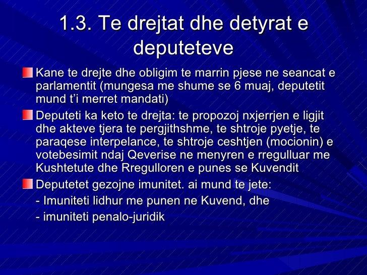 Ligjeratat nga e drejta kushtetuese